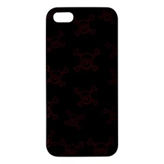 Skull Pattern Iphone 5s/ Se Premium Hardshell Case by ValentinaDesign