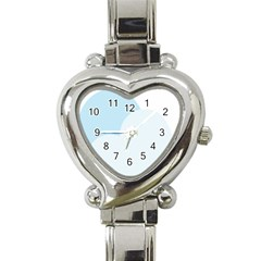 Cloud Sky Blue Decorative Symbol Heart Italian Charm Watch by Nexatart