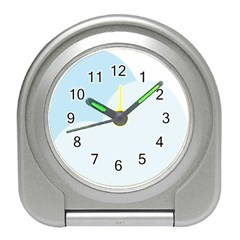 Cloud Sky Blue Decorative Symbol Travel Alarm Clocks by Nexatart