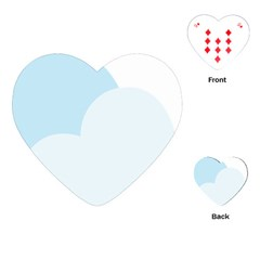 Cloud Sky Blue Decorative Symbol Playing Cards (heart)