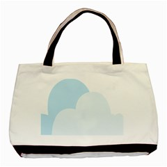 Cloud Sky Blue Decorative Symbol Basic Tote Bag by Nexatart