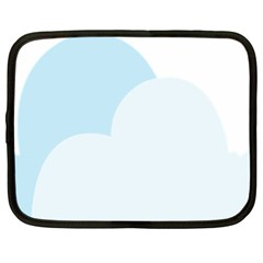 Cloud Sky Blue Decorative Symbol Netbook Case (xl)  by Nexatart