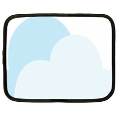 Cloud Sky Blue Decorative Symbol Netbook Case (xxl)  by Nexatart