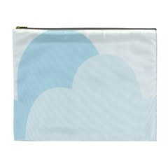 Cloud Sky Blue Decorative Symbol Cosmetic Bag (xl) by Nexatart