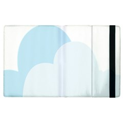 Cloud Sky Blue Decorative Symbol Apple Ipad 3/4 Flip Case by Nexatart