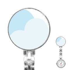 Cloud Sky Blue Decorative Symbol Stainless Steel Nurses Watch by Nexatart
