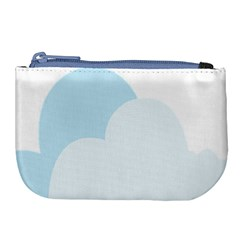 Cloud Sky Blue Decorative Symbol Large Coin Purse by Nexatart
