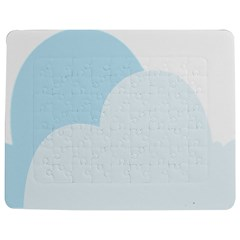 Cloud Sky Blue Decorative Symbol Jigsaw Puzzle Photo Stand (rectangular) by Nexatart
