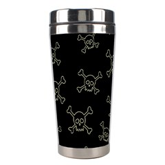 Skull Pattern Stainless Steel Travel Tumblers by ValentinaDesign