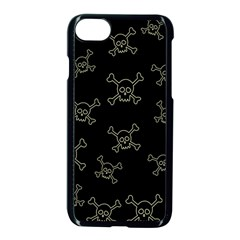 Skull Pattern Apple Iphone 7 Seamless Case (black) by ValentinaDesign