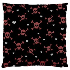 Skull Pattern Large Cushion Case (two Sides) by ValentinaDesign