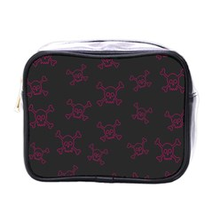 Skull Pattern Mini Toiletries Bags by ValentinaDesign