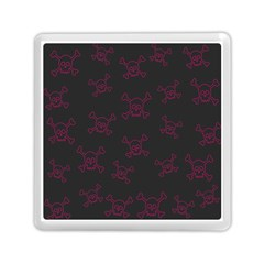 Skull Pattern Memory Card Reader (square)  by ValentinaDesign