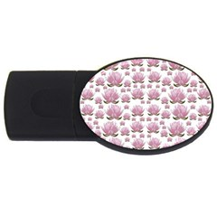 Lotus Usb Flash Drive Oval (4 Gb) by ValentinaDesign