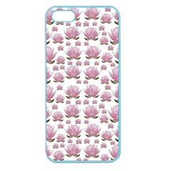 Lotus Apple Seamless Iphone 5 Case (color) by ValentinaDesign