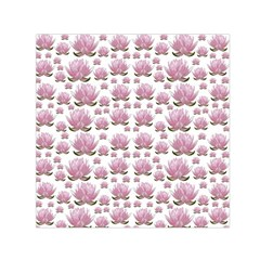 Lotus Small Satin Scarf (square) by ValentinaDesign
