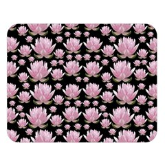 Lotus Double Sided Flano Blanket (large)  by ValentinaDesign