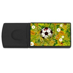 Ball On Forest Floor Usb Flash Drive Rectangular (4 Gb) by linceazul