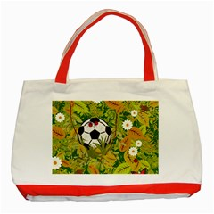 Ball On Forest Floor Classic Tote Bag (red) by linceazul