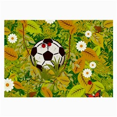 Ball On Forest Floor Large Glasses Cloth (2 Side) by linceazul