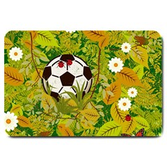 Ball On Forest Floor Large Doormat  by linceazul