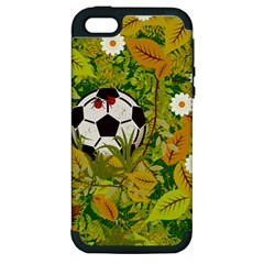 Ball On Forest Floor Apple Iphone 5 Hardshell Case (pc+silicone) by linceazul