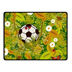 Ball On Forest Floor Double Sided Fleece Blanket (small)  by linceazul