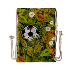 Ball On Forest Floor Drawstring Bag (small) by linceazul