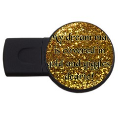 Covered In Gold! Usb Flash Drive Round (4 Gb) by badwolf1988store