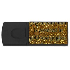 Covered In Gold! Usb Flash Drive Rectangular (4 Gb) by badwolf1988store
