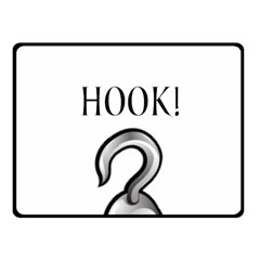 Hooked On Hook! Fleece Blanket (small) by badwolf1988store