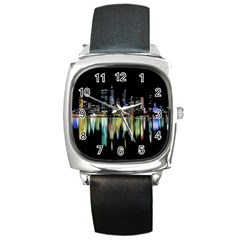 City Panorama Square Metal Watch