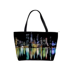 City Panorama Shoulder Handbags by Valentinaart