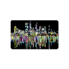 City Panorama Magnet (name Card) by Valentinaart