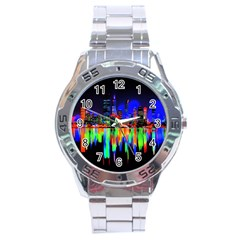 City Panorama Stainless Steel Analogue Watch by Valentinaart