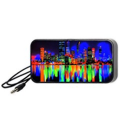 City Panorama Portable Speaker (black) by Valentinaart
