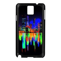City Panorama Samsung Galaxy Note 3 N9005 Case (black) by Valentinaart