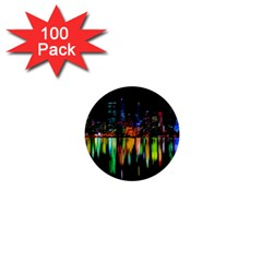 City Panorama 1  Mini Buttons (100 Pack)  by Valentinaart
