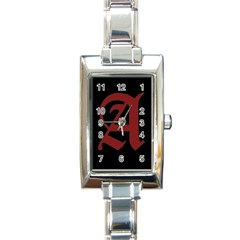 The Scarlet Letter Rectangle Italian Charm Watch