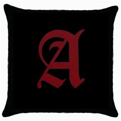The Scarlet Letter Throw Pillow Case (black) by Valentinaart