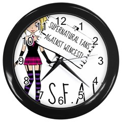 S F A W  Wall Clocks (black) by badwolf1988store