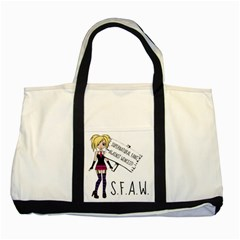 S F A W  Two Tone Tote Bag by badwolf1988store