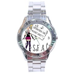 S F A W  Stainless Steel Analogue Watch by badwolf1988store
