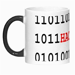 Binary Black Cyber Data Digits Morph Mugs by Nexatart
