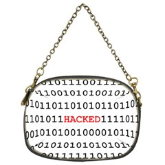 Binary Black Cyber Data Digits Chain Purses (two Sides)  by Nexatart