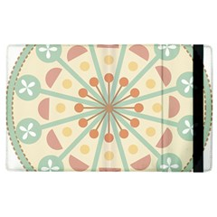 Blue Circle Ornaments Apple Ipad 2 Flip Case by Nexatart
