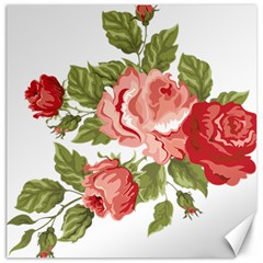 Flower Rose Pink Red Romantic Canvas 20  X 20   by Nexatart