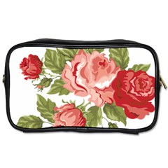 Flower Rose Pink Red Romantic Toiletries Bags by Nexatart