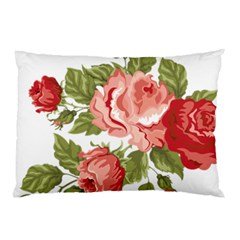 Flower Rose Pink Red Romantic Pillow Case (two Sides) by Nexatart