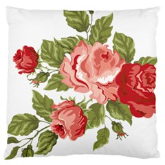 Flower Rose Pink Red Romantic Large Cushion Case (two Sides) by Nexatart